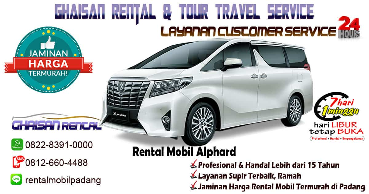sewa mobil alphard padang murah di sumatera barat ghaisan rental. Black Bedroom Furniture Sets. Home Design Ideas